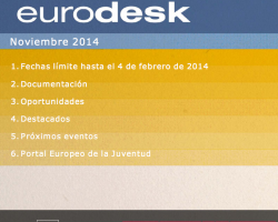 Boletín Eurodesk Noviembre 2014