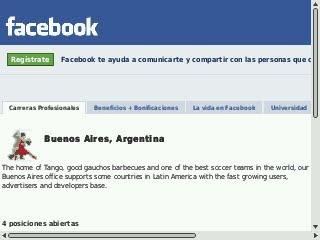 Trabajar en Facebook Argentina