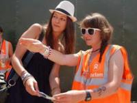 voluntarios en festivales